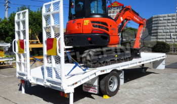#2295C Kubota U55 + 9T Trailer full